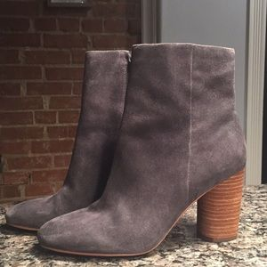Sam Edelman Corra Boots in Asphalt Suede Leather